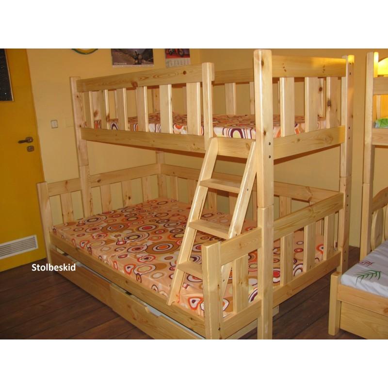3 Osobowe łóżko Mocarz