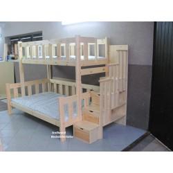 Łóżko 3 osobowe ze schodami...